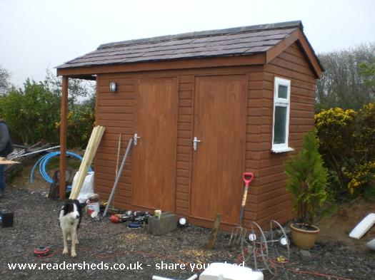 Just sheds tuesday wind powered shower shed for Shed bathroom designs