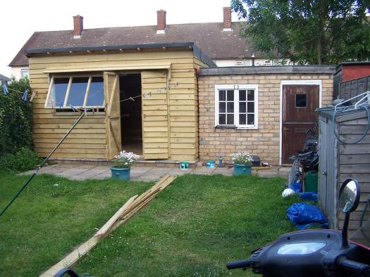 Photo of Gymshed, entry to Shed of the year-I built both sheds