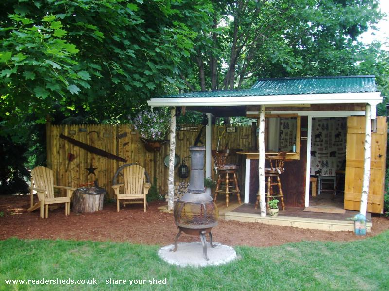 Photo of Redneck Tiki, entry to Shed of the year-front view