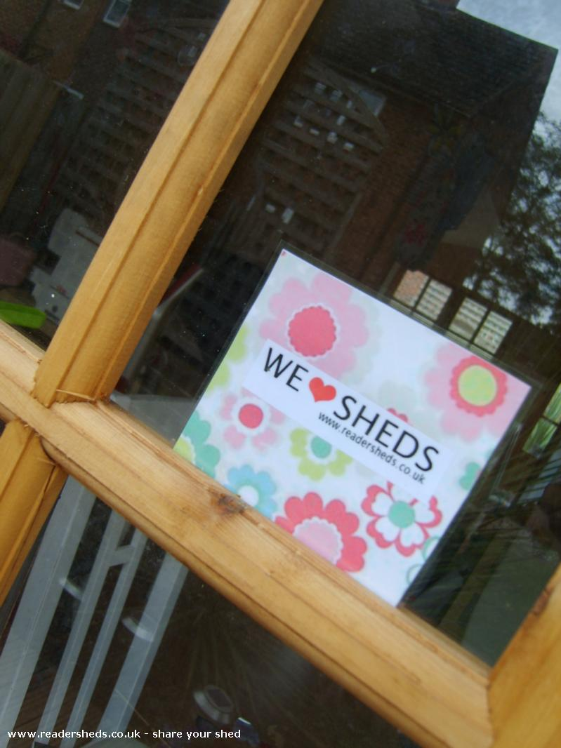 Photo of HERS, entry to Shed of the year-WE LOVE SHEDS...My window sticker or drinks mat even
