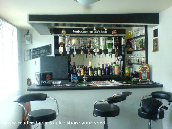Photo of Al's Bar, entry to Shed of the year