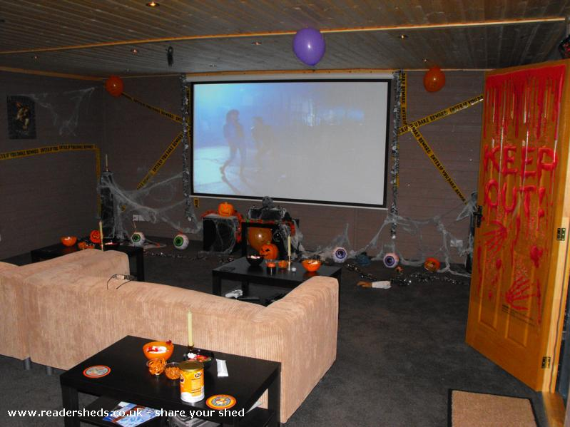 Photo of reelwood, entry to Shed of the year-decorated for the halloween scary movie night