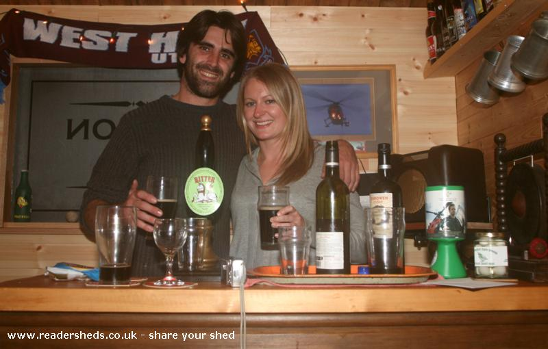 Photo of The Unicorn, entry to Shed of the year-Jo & Chris dropped in from New Zealand to enjoy a pint or two, or three, or four......