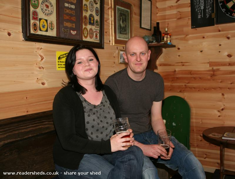 Photo of The Unicorn, entry to Shed of the year-Lovely to be joined by Andrew and Laura, enjoying the ambience of the Unicorn