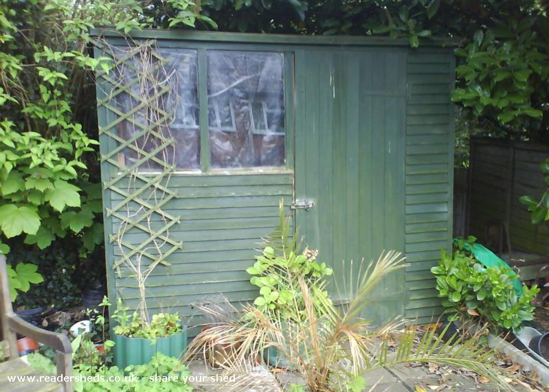Roger and Alison's shed