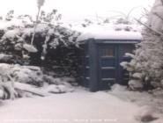 very snowy Tardis