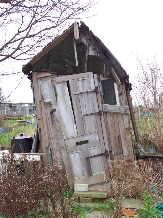The most unstable shed on Tenantry Down Allotments