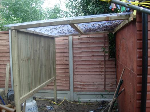 Photo of the sh&t pit, entry to Shed of the year-shed extension for motorbike
