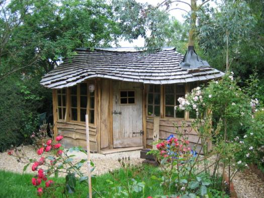 Photo of housetree, entry to Shed of the year-Front view, closer, sorry for fertiliser bags in foreground!