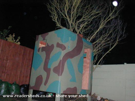 Photo of Leon Wheeler's Den, entry to Shed of the year-
