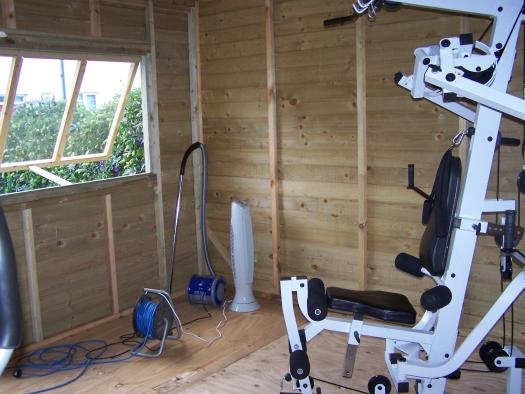 Photo of Gymshed, entry to Shed of the year-inside