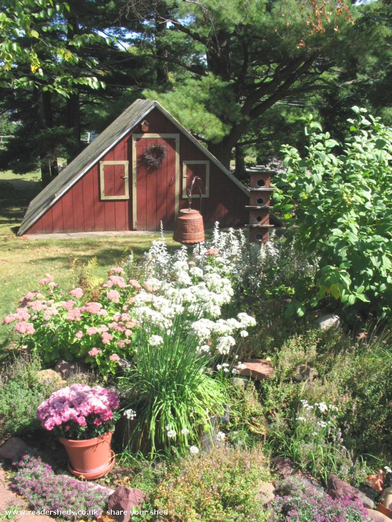 Red A-Frame Garden Shed