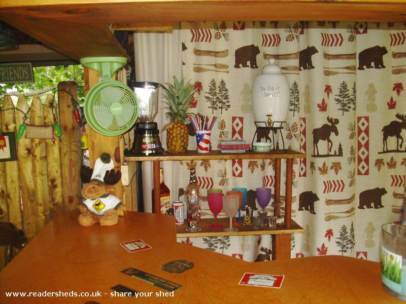 Photo of Redneck Tiki, entry to Shed of the year-inside
