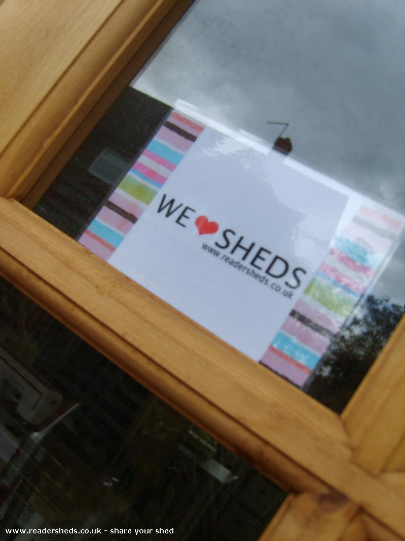 Photo of HERS, entry to Shed of the year-2nd choice window sticker