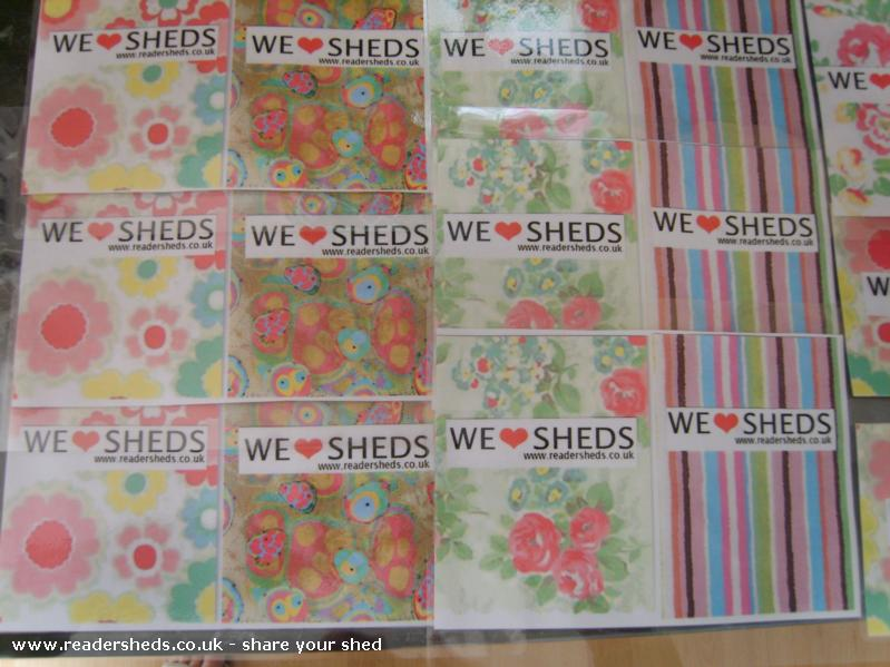 Photo of HERS, entry to Shed of the year-Laminated bunting waiting to be cut out