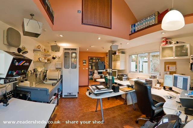 Photo of The Studio, entry to Shed of the year-The interior, a fully functional traditional & digital darkroom/lightroom.