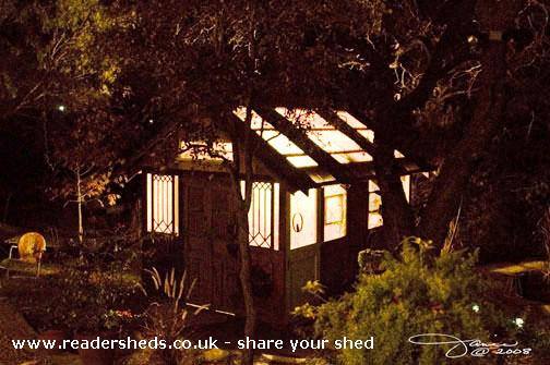 Photo of House of Doors, entry to Shed of the year-Night shot with the lights on