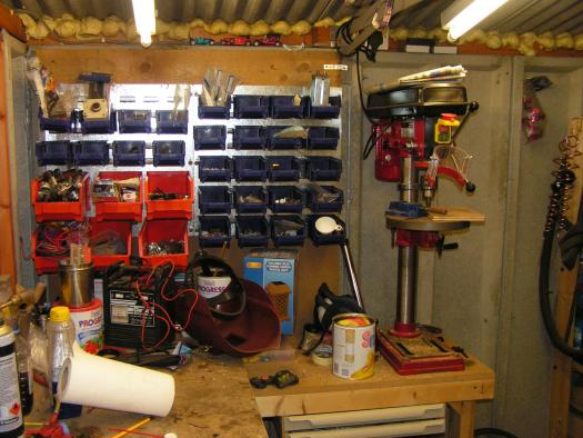 Photo of PP's workshop, entry to Shed of the year-