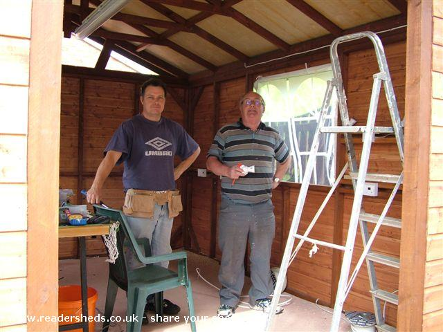 Photo of Tony's Shed, entry to Shed of the year-Dad being dab hand with electrics is a great help.
