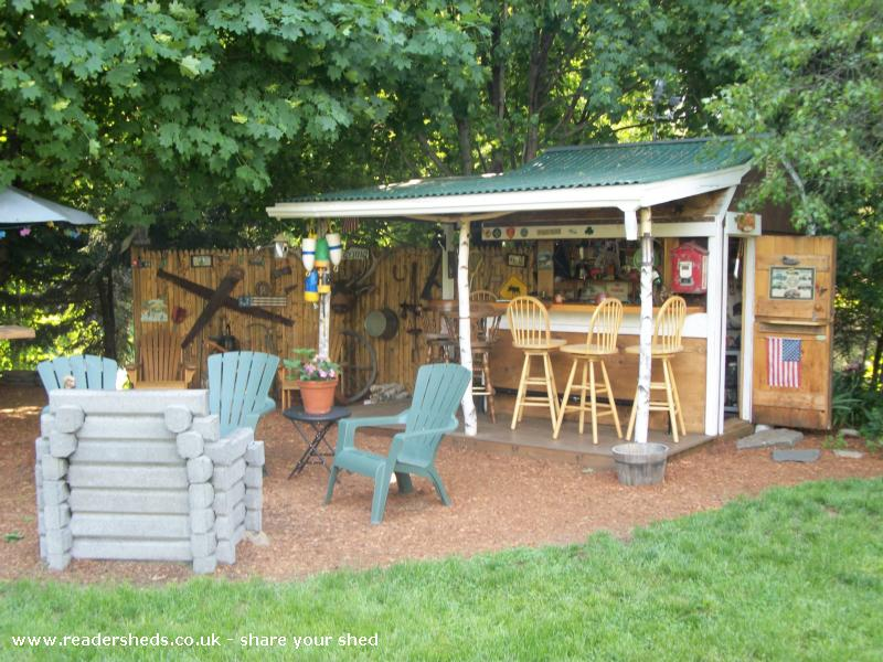 Photo of Redneck Tiki, entry to Shed of the year-New fireplace addition