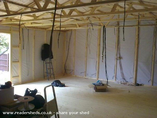 Photo of reelwood, entry to Shed of the year-cabling!