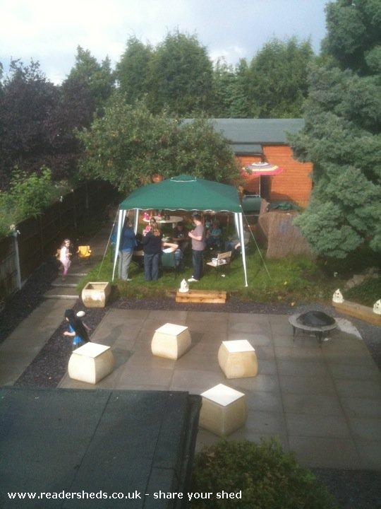 Photo of reelwood, entry to Shed of the year-pre movie bbq (in the rain!)
