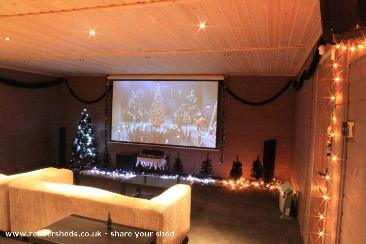 Photo of reelwood, entry to Shed of the year-all set for christmas movie day!