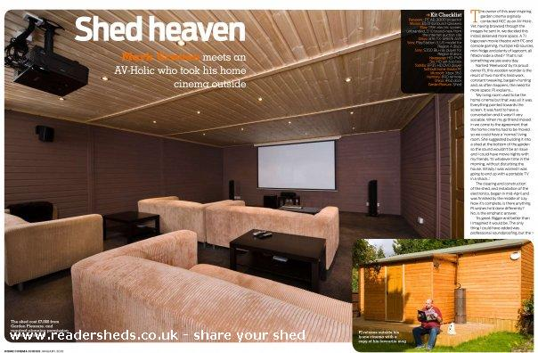 Photo of reelwood, entry to Shed of the year-reelwood in home cinema choice magazine