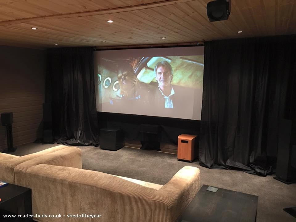 Photo of reelwood, entry to Shed of the year-new diy screen setup for 16:9 movies