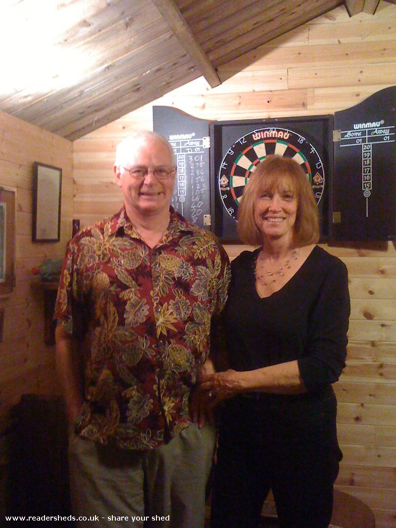 Photo of The Unicorn, entry to Shed of the year-Des & Sandie, over from the USA