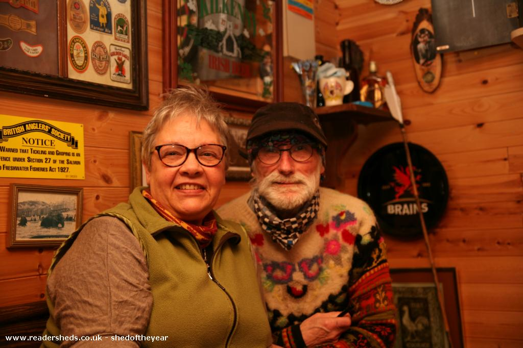 Photo of The Unicorn, entry to Shed of the year-Juan Gorriti and his wife - 2nd March 2016