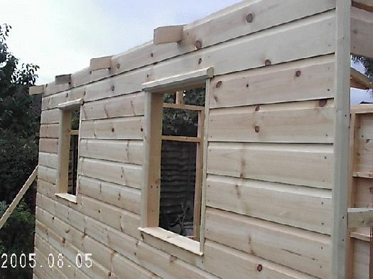 Photo of little gaff, entry to Shed of the year-windows