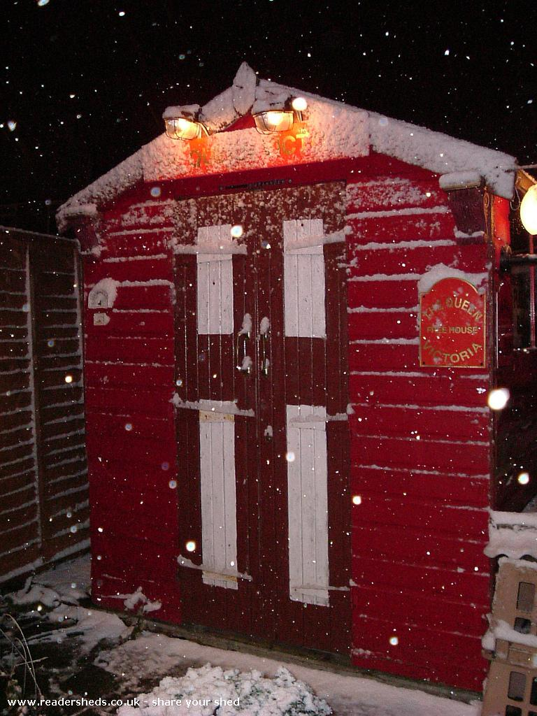 Photo of The Queen Victoria, entry to Shed of the year-snowing in Walford