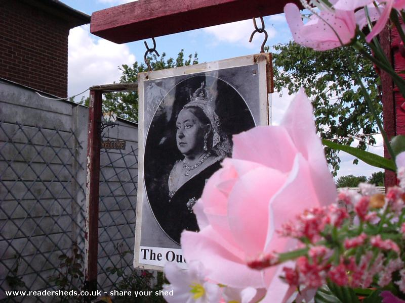Photo of The Queen Victoria, entry to Shed of the year-Queen Victoria Sign