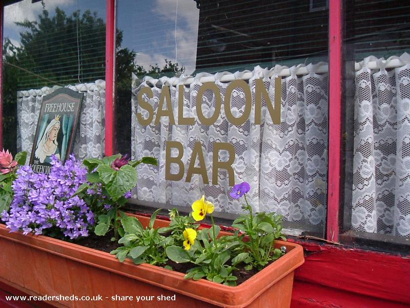 Photo of The Queen Victoria, entry to Shed of the year-Saloon Bar Windows
