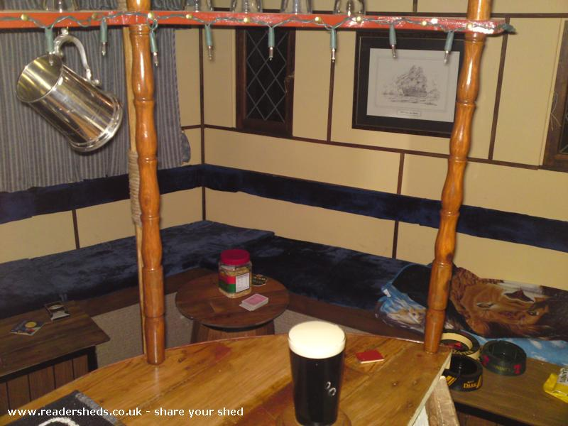 Photo of The Ghost Ship, entry to Shed of the year-View of seating area from bar.