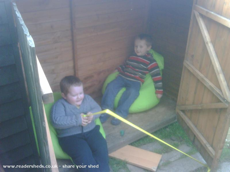 Photo of The Boys Den, entry to Shed of the year-occupants