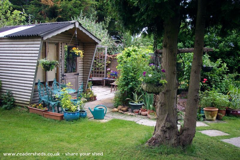 Photo of Anne's toy, entry to Shed of the year-side view in garden