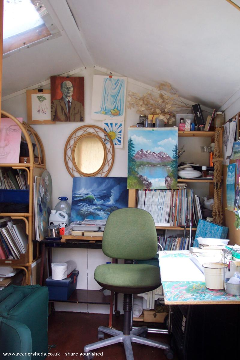 Photo of Anne's toy, entry to Shed of the year-inside