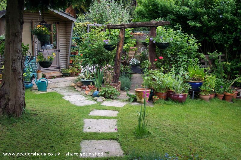 Photo of Anne's toy, entry to Shed of the year-front view from path