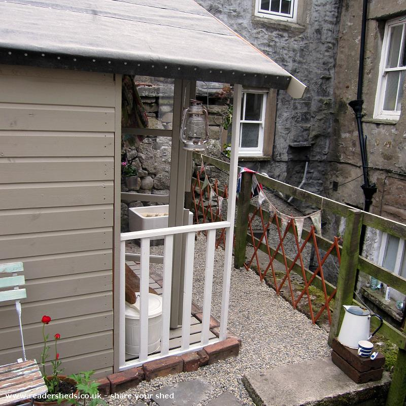 Photo of the home of ted & agnes..., entry to Shed of the year-front veranda