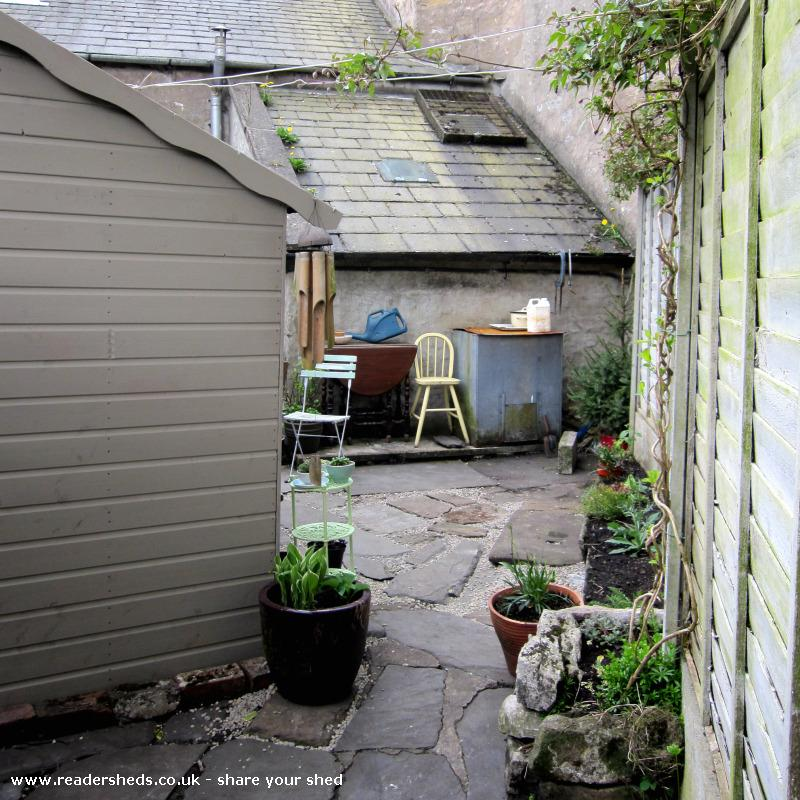 Photo of the home of ted & agnes..., entry to Shed of the year-view from the back