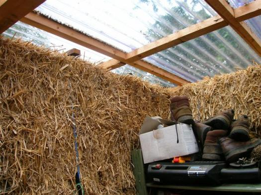 the straw bale shed