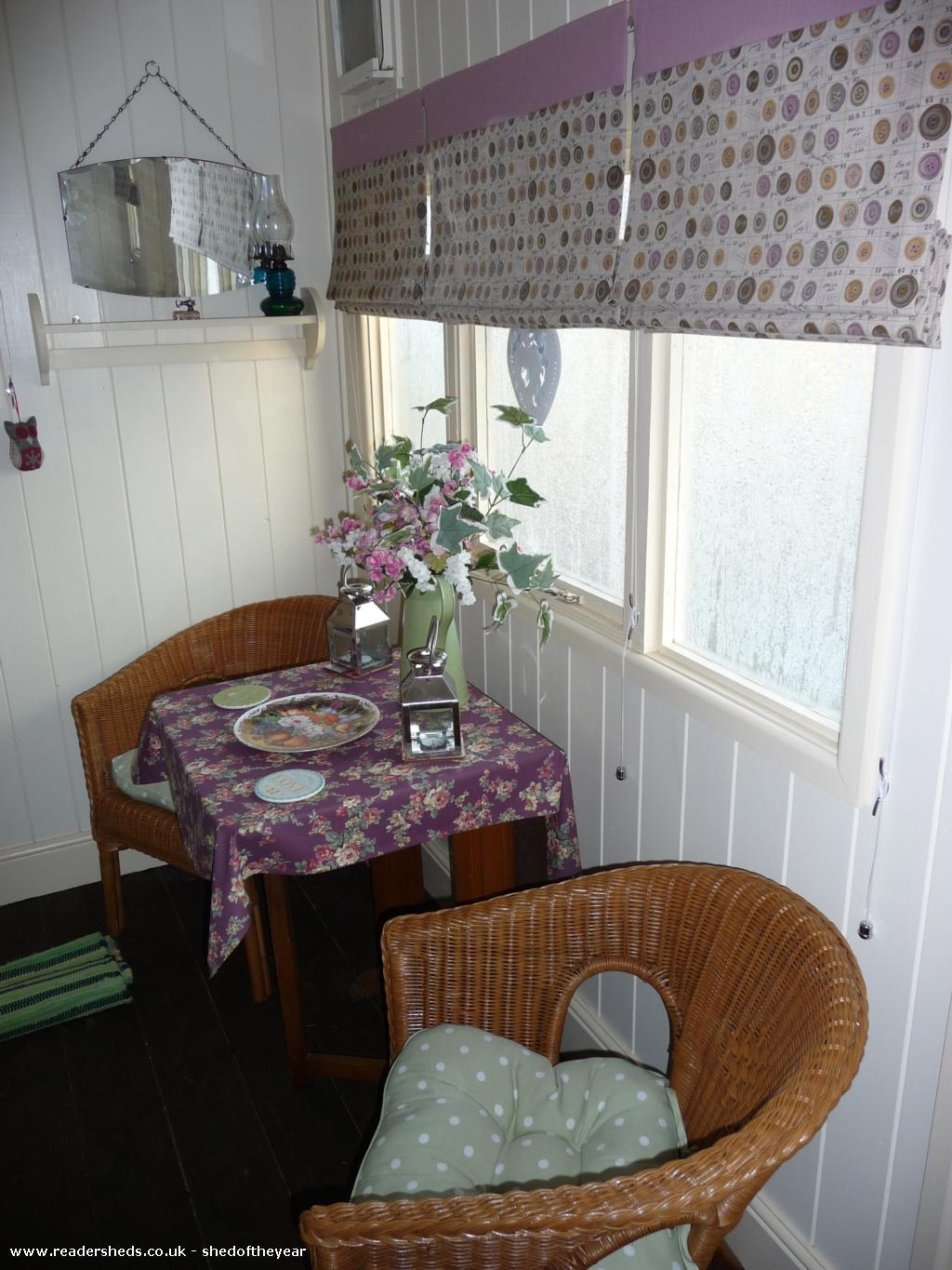 Photo of Mini Jeff, entry to Shed of the year-Dining room