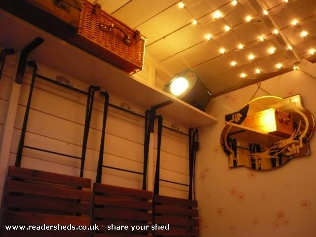 Photo of Mini Jeff, entry to Shed of the year-Internal shot of stage lamp