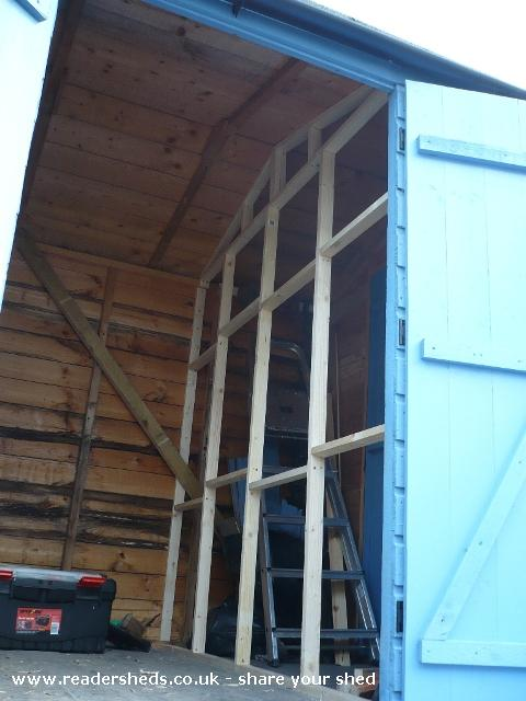 Photo of Mini Jeff, entry to Shed of the year-Internal partition wall
