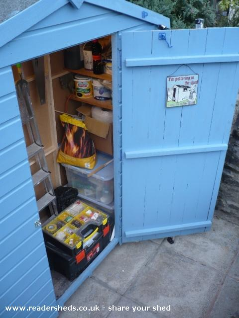 Photo of Mini Jeff, entry to Shed of the year-Tool storage area