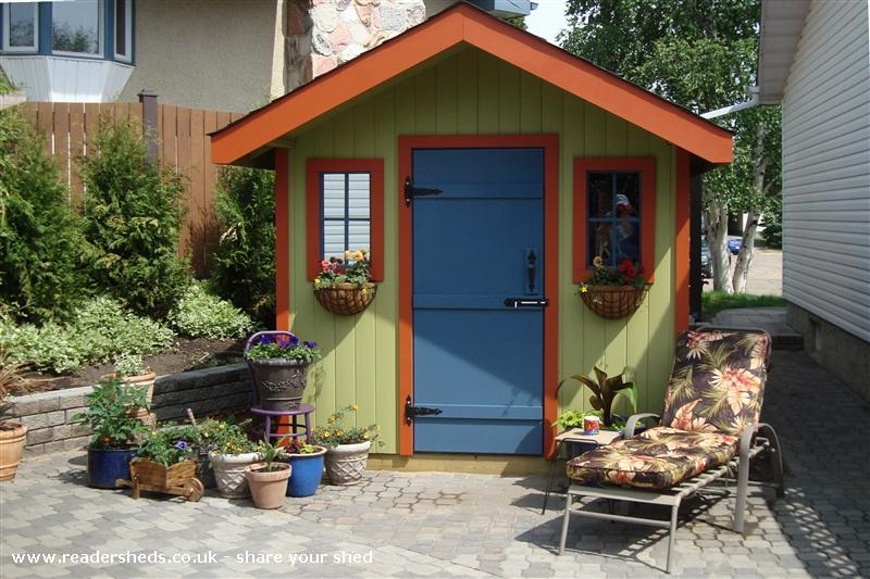 Photo of Kathy's Shed, entry to Shed of the year-front view