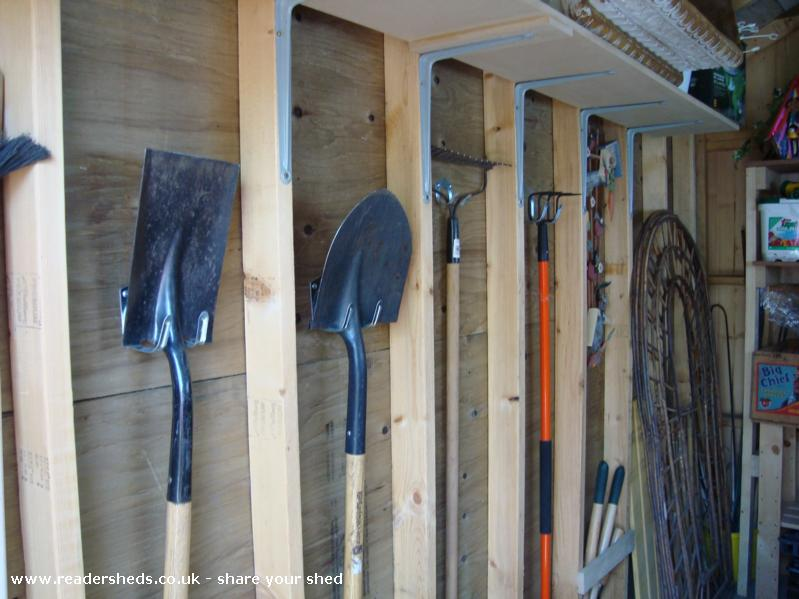 Photo of Kathy's Shed, entry to Shed of the year-now I know where my tools are