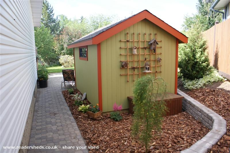 Photo of Kathy's Shed, entry to Shed of the year-back view